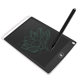 Tableta LCD pentru scris si desenat, 8.5 inch, Alba