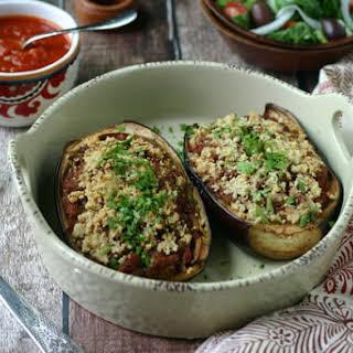Paleo Stuffed Eggplant {with Ground Beef}.