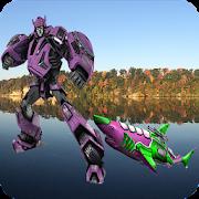 Real Robot Shark Steel Transforming Warrior