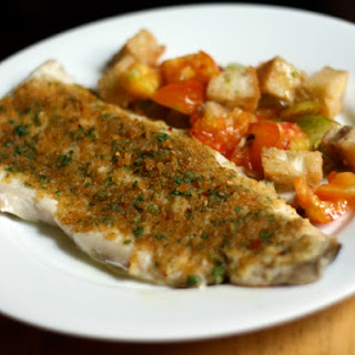 Baked Fish with Savory Bread Crumbs.