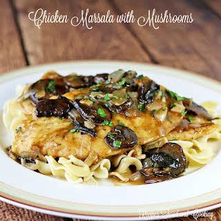 Chicken Marsala with Mushrooms.