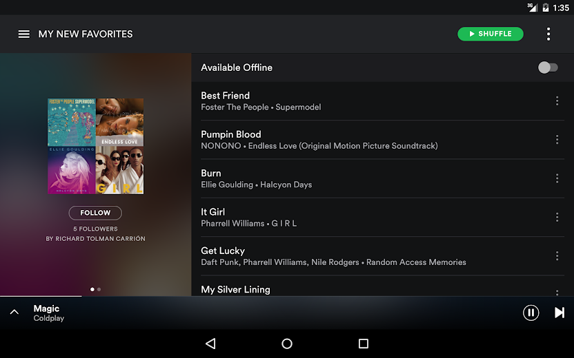 Screenshot 9 for Spotify's Android app'