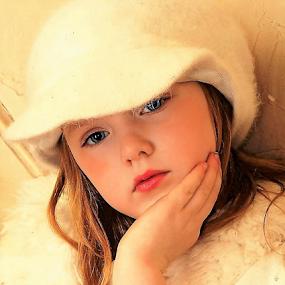 Thoughtfully Thinking by Cheryl Korotky - Babies & Children Child Portraits (  )