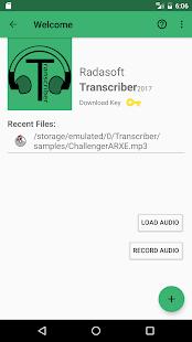 Transcriber - náhled