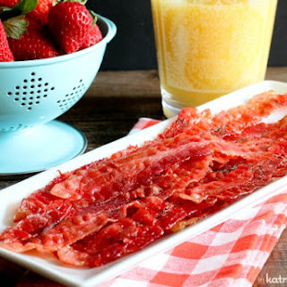 Strawberry Candied Bacon.