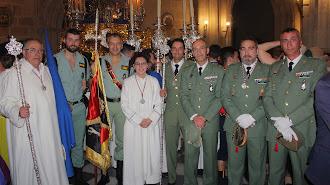 El Grupo de Artillería de Campaña II de La Legión Rey Alfonso XIII, hermanos de honor de Prendimiento.