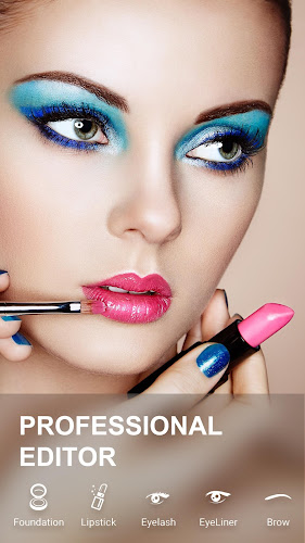 Face Makeup Camera & Beauty Photo Makeup Editor Android App Screenshot