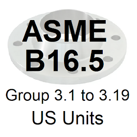 ASME B16.5 Group 3.1 to 3.19 US Units