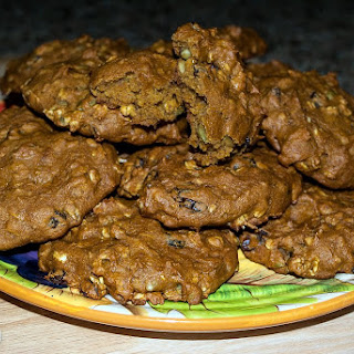 Pumpkin Breakfast Cookies with Raisins and Pepitas