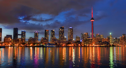 Photo: TORONTO AT NIGHT I took this on my last night in Canada. I'd definitely like to visit again. Everyone was really chill and friendly.
