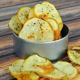 Simple Baked Potato Chips.