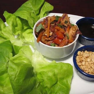 (Healthy) Asian Chicken Lettuce Wraps.
