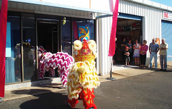 Photo: The Lion Dancers at our Official Opening - 11th July 2009