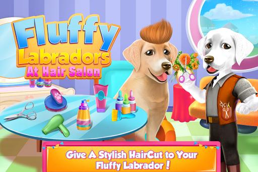 Fluffy Labradors at Hair Salon 1.0.0 screenshots 1