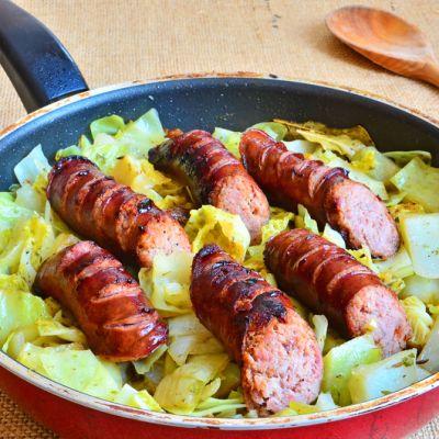 Polish-American Sausage, Cabbage, and Potato Casserole Recipe