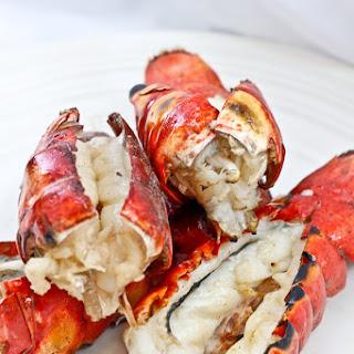 Grilled Bourbon Lobster Tails.
