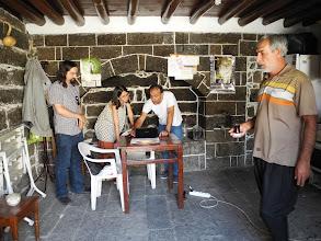 Photo: At Mala Dengbejan (The House of Dengbej), with Mehmet Güzel and Zülfü Akbaş