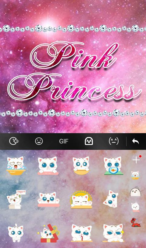 Pink Princess Diamond Galaxy Keyboard Theme- screenshot
