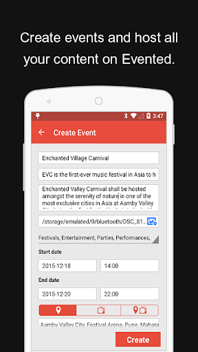 Evented - Explore Events Beta