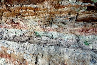 Photo: Nemcsak geológus szívet dobogtató, földtörténeti elbeszélő költemény az egymásra települt kőzetrétegek  bámulatos változatossága!  (Macska-lyuk, Szentendre)