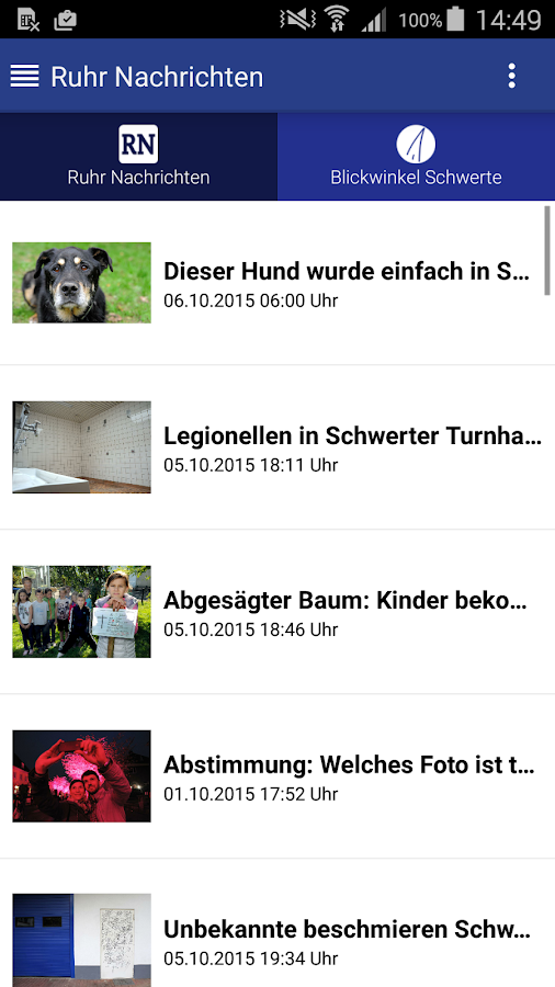 Schwerte APP- screenshot