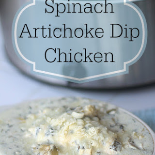 Slow Cooker Recipe - Spinach Artichoke Dip Chicken