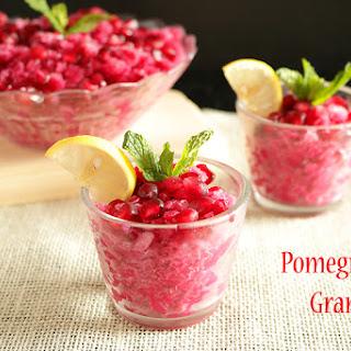 Pomegranate Granita.