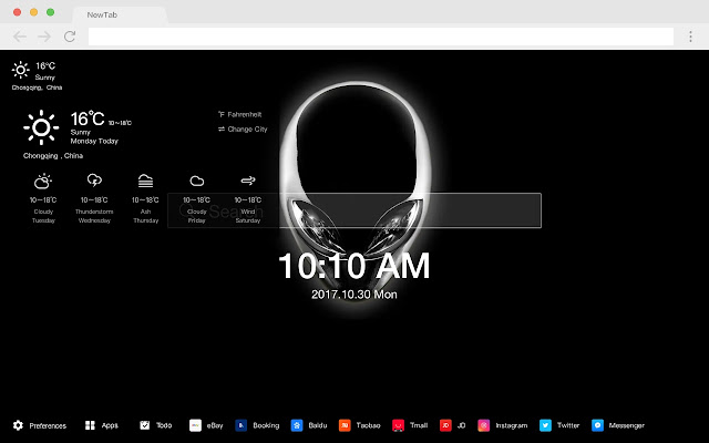 Alienware New Tab Page HD Hot Brands Theme