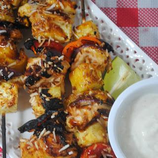 Pina Colada Chicken Kabob.
