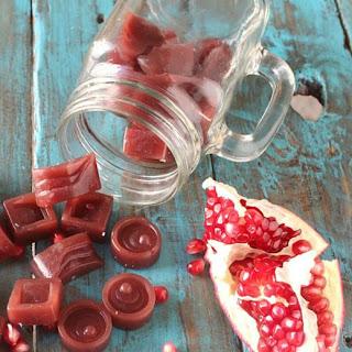 Pomegranate Gelatin Gummies.