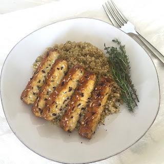 Savory Herb-Baked Tempeh + Quinoa.