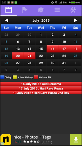 Calendar Indonesia +PH +SH