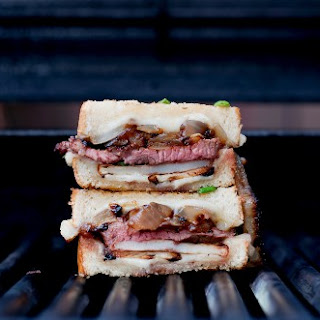 Steak & Potato Barbecued Grilled Cheese.