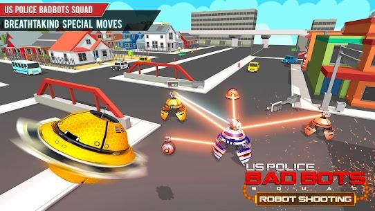 US Police Futuristic Robot Transform Shooting Game 2