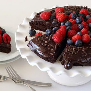 Chocolate Cake with Ganache Frosting – Gluten-free, Paleo-friendly