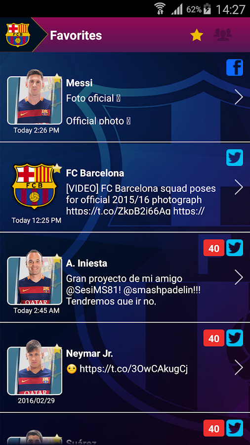 FCB Connect - FC Barcelona- screenshot
