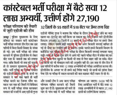 Rajasthan Police Constable Result 2021 Latest News