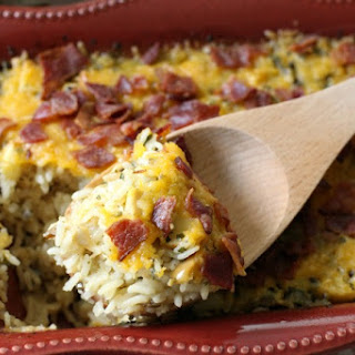 CHEESY WILD RICE CASSEROLE