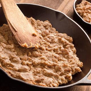 Refried Pinto Beans (Frijoles Refritos).