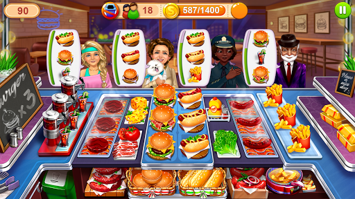 Code Triche Hellu2019s Cooking u2014 crazy chef burger, kitchen fever APK MOD screenshots 5