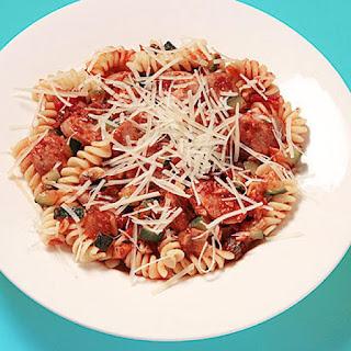 Italian Sausage and Veggie Pasta.