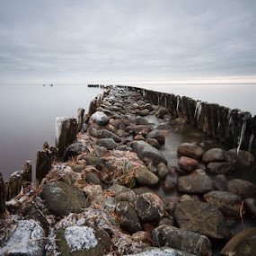 The way by Eriks Zilbalodis - Landscapes Waterscapes ( ice, sea, brown, grey, long exposition )