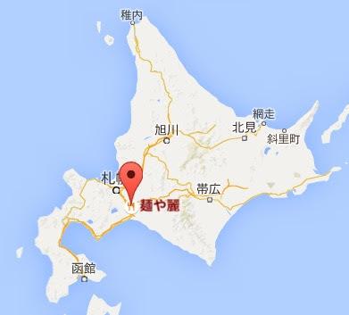 地図:麺や 麗