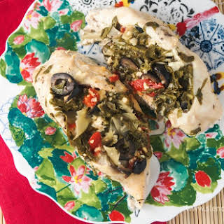 Sunday Slow Cooker: Greek Stuffed Chicken Breasts.