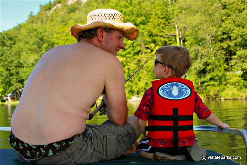 Photo: Fishing buddies at Lake St. Catherine State Park by Jennifer Minehart