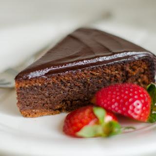 Flourless Chocolate Almond Cake with Chocolate Ganache.