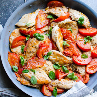 Chicken Breast with Tomatoes and Garlic.