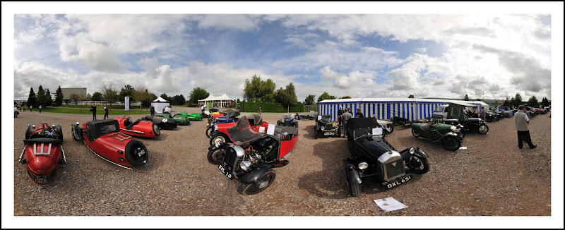Photo: A collection of classic Morgan 3 wheelers