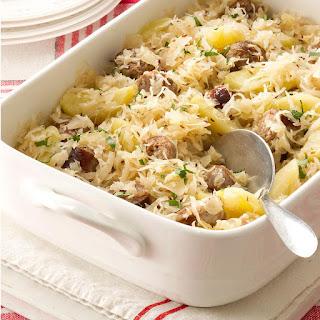 Sauerkraut Casserole.