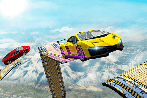 Mega Ramp Impossible Car Jump Over The Airplane screenshots 17